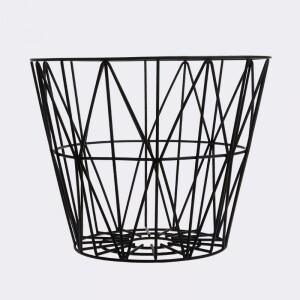 Bilde av Wire Basket L Black, Ferm
