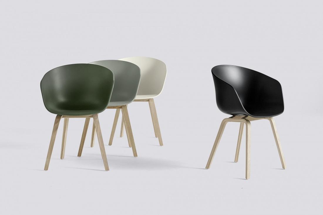 HAY Dusty Green AAC22, About a Chair 22 Soap Oak Stol