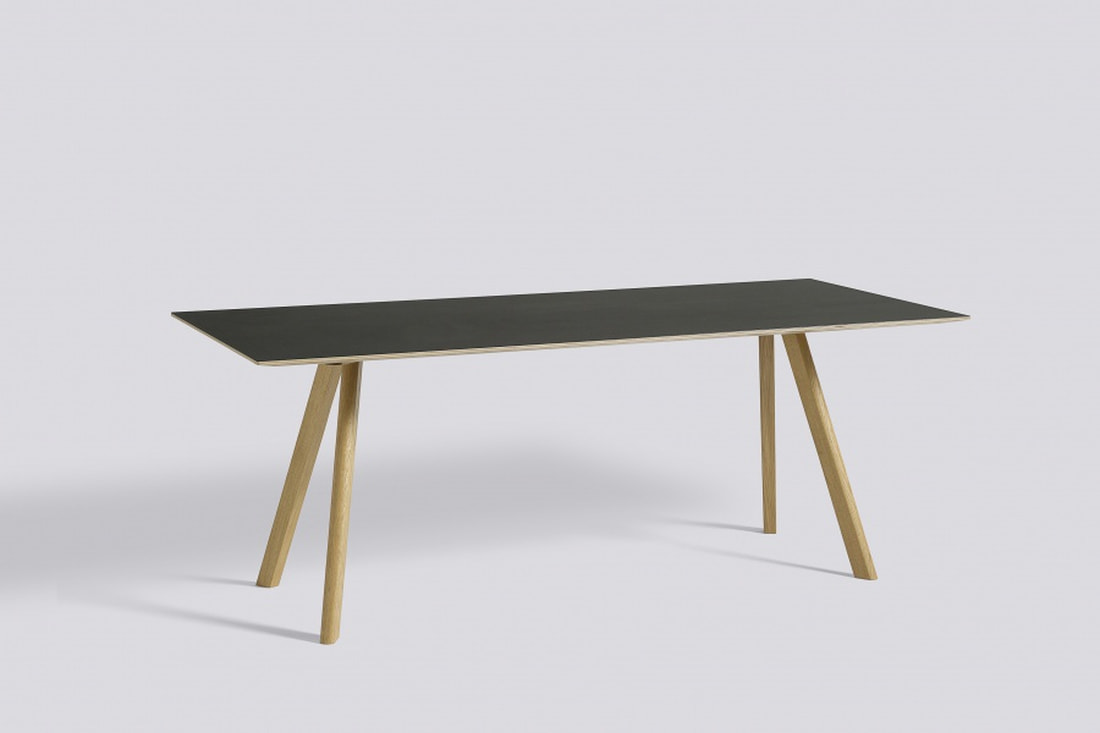 HAY Copenhague Table CPH30, Soap Oak Black Spisebord 200cm