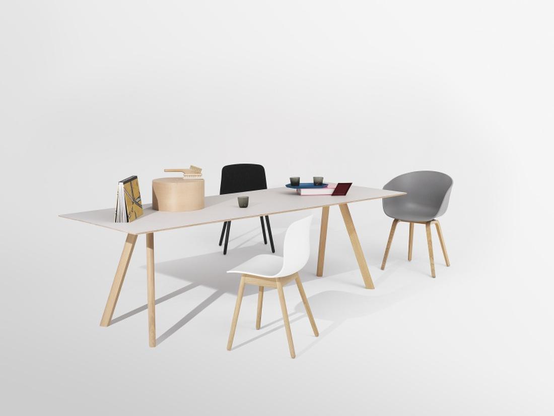 HAY Copenhague Table CPH30, Soap oak White Spisebord 250cm