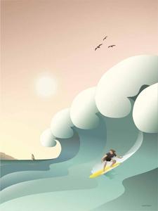 Bilde av Vissevasse Surfer 50x70
