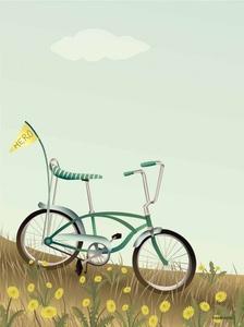 Bilde av Visevasse Bike with a flag