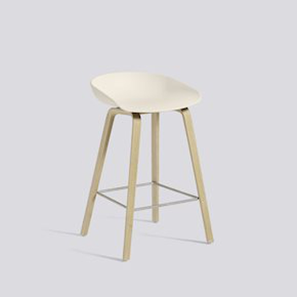 Hay 64cm Cream White/Soap Oak AAS 32, About a Stool