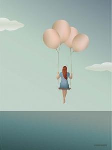 Bilde av VisseVasse Balloon Dream kort