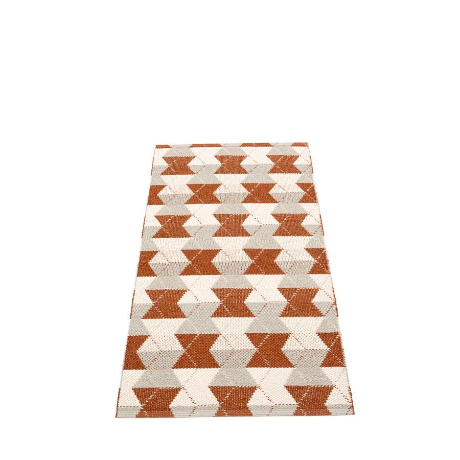 Pappelina Trip Gulvløper 70x150 Rust Linen/Vanilla
