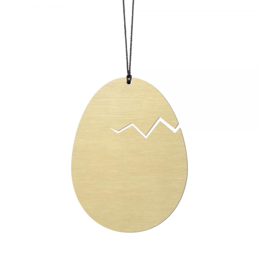 Felius Design Klekket påskeegg 2stk, messing