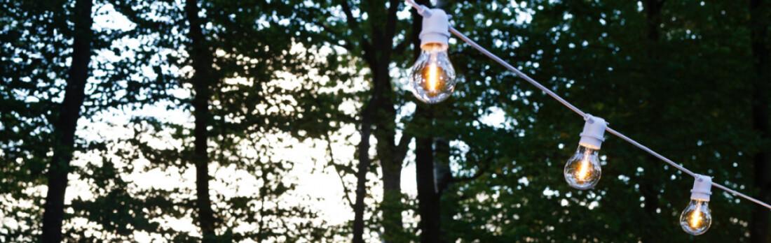 HouseDoctor Light Chain, 8,4 m, White, Hvit lyskjede
