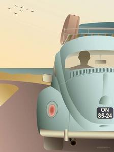 Bilde av VisseVasse VW Beetle 50x70cm