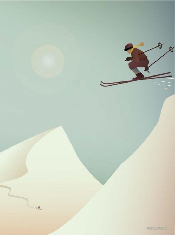 VisseVasse Skiing 50x70cm