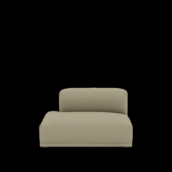 Muuto Connect sofa Modul F Open ended Left, Divina Melange 237