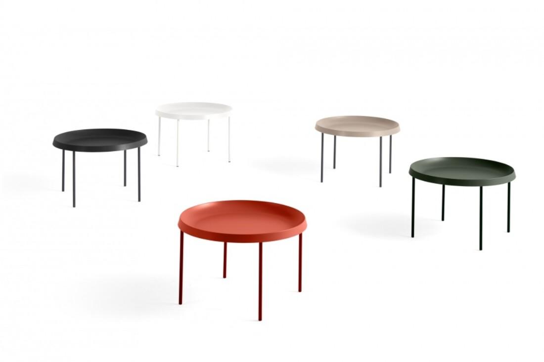 HAY Tulou Coffee Table, Orange Ø55cm