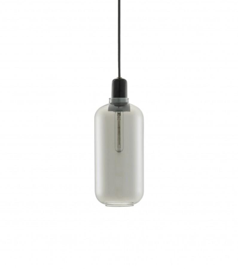 Normann Cph Amp Lamp Large, smoke/black taklampe