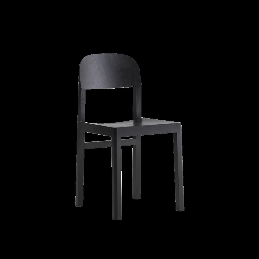 Muuto Workshop Black Oak Chair, Spisestol i eik