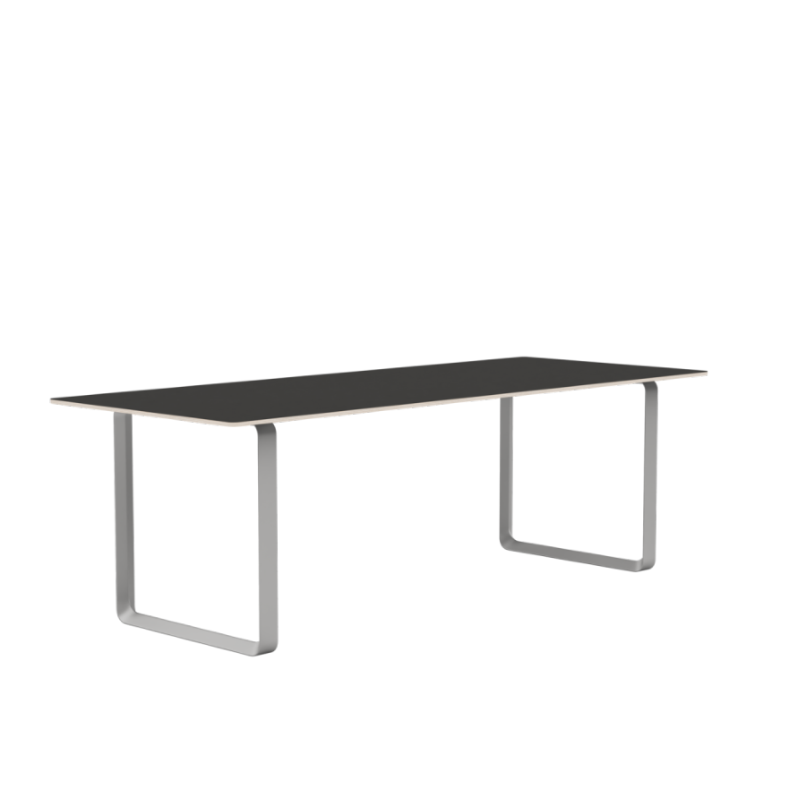 Muuto 70/70 225 cm Black Lionoleum Plywood Grey, Spisebord