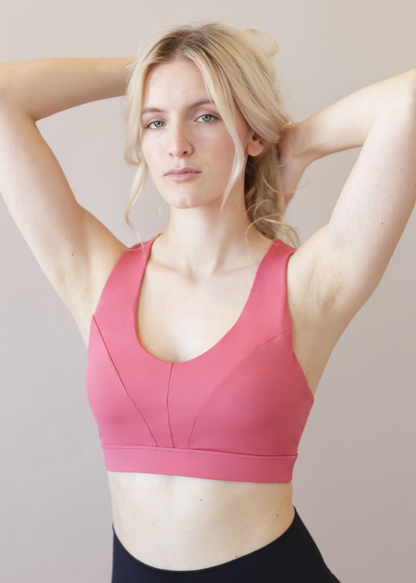 Stay In Place Energy Sports Bra Blush And Tell