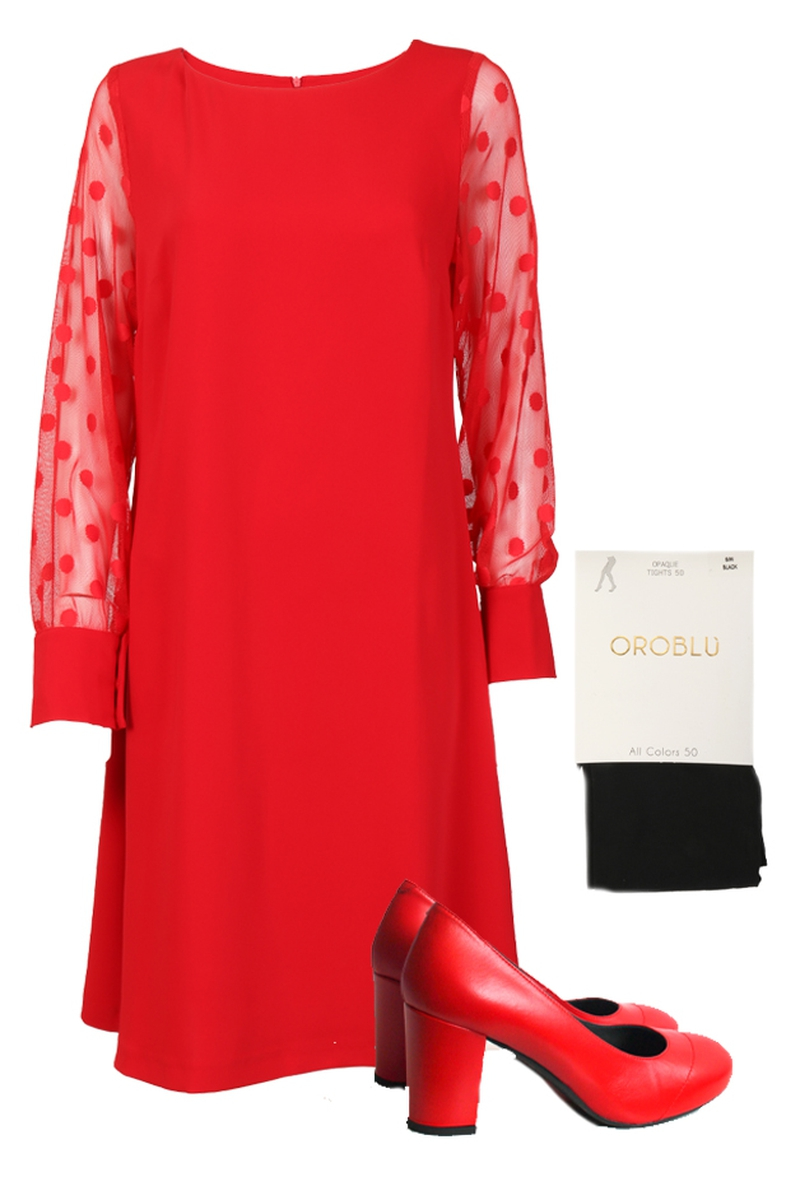 Outfit Audny red