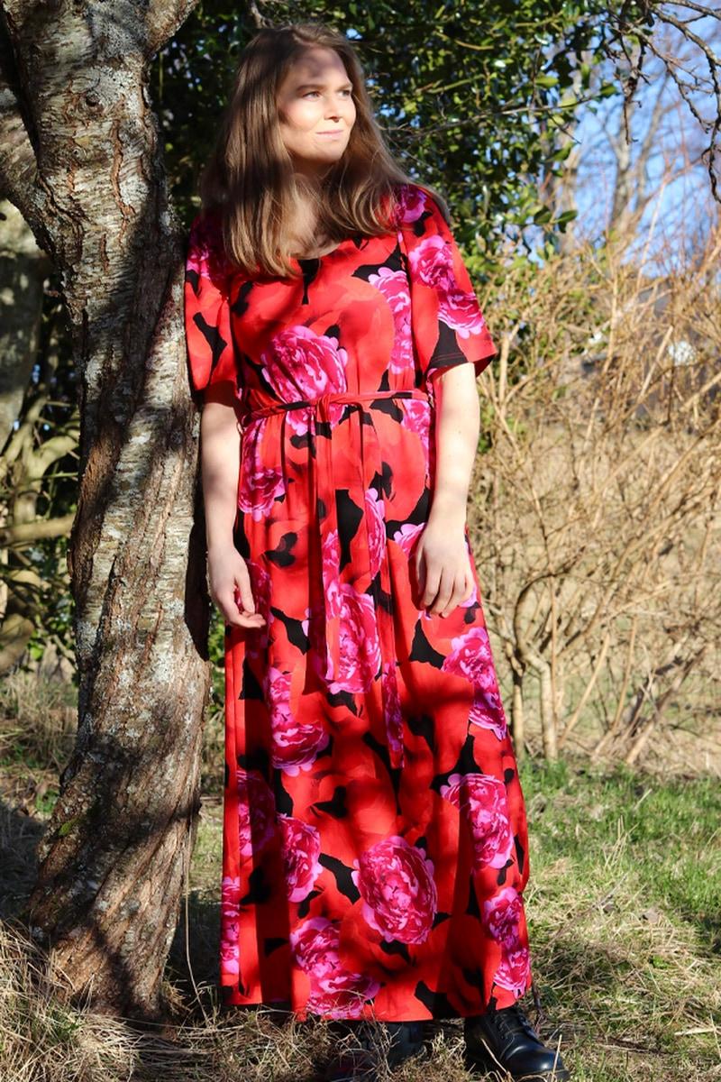 Papaver & peon kjole D55