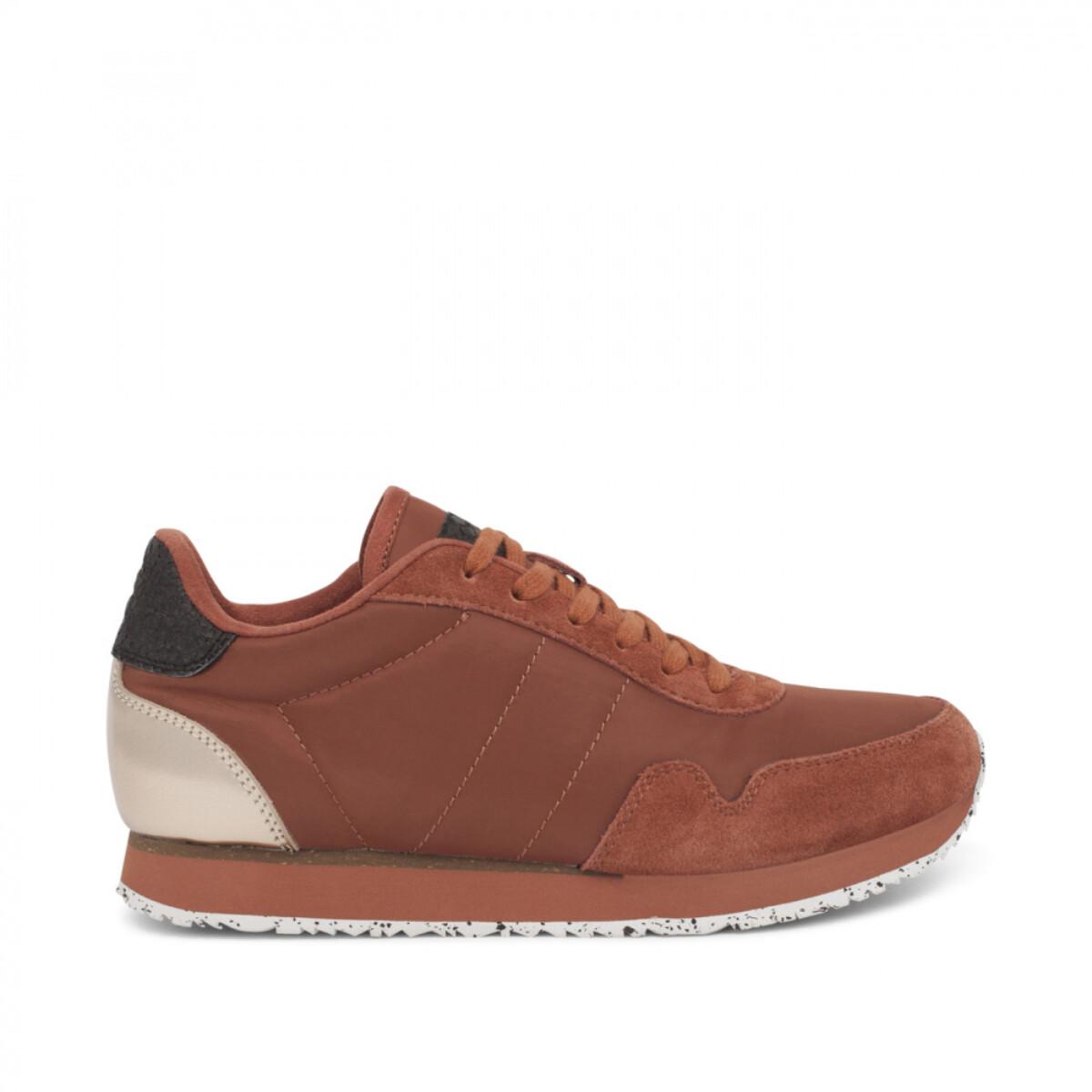 NORA III  rust woden sneakers WL163