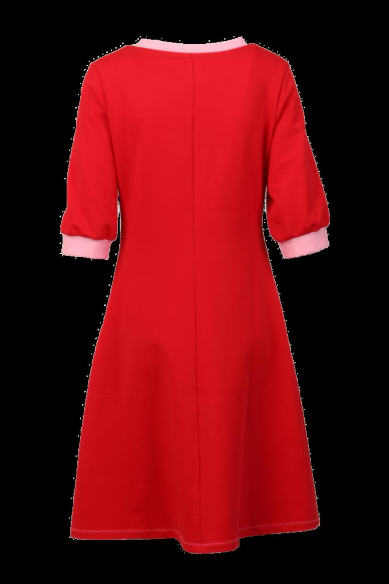 Marita rød og rosa kjole