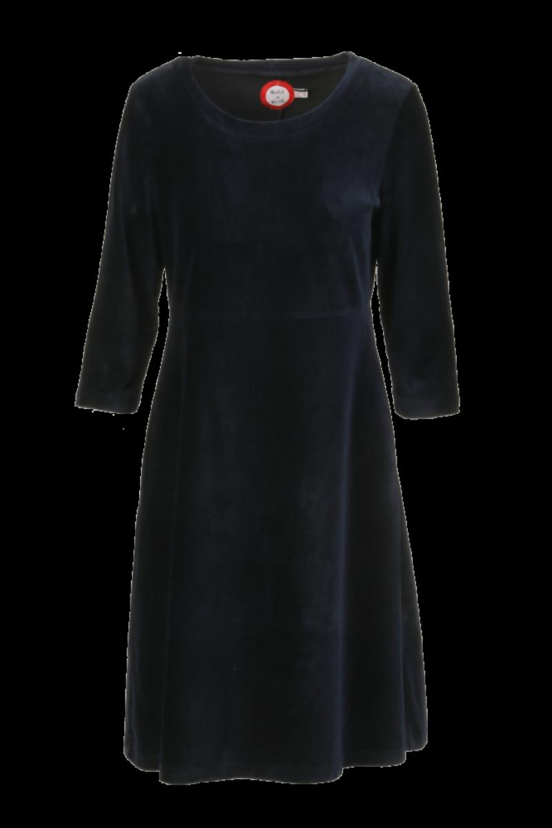 Elli kjole babycord mørkblå