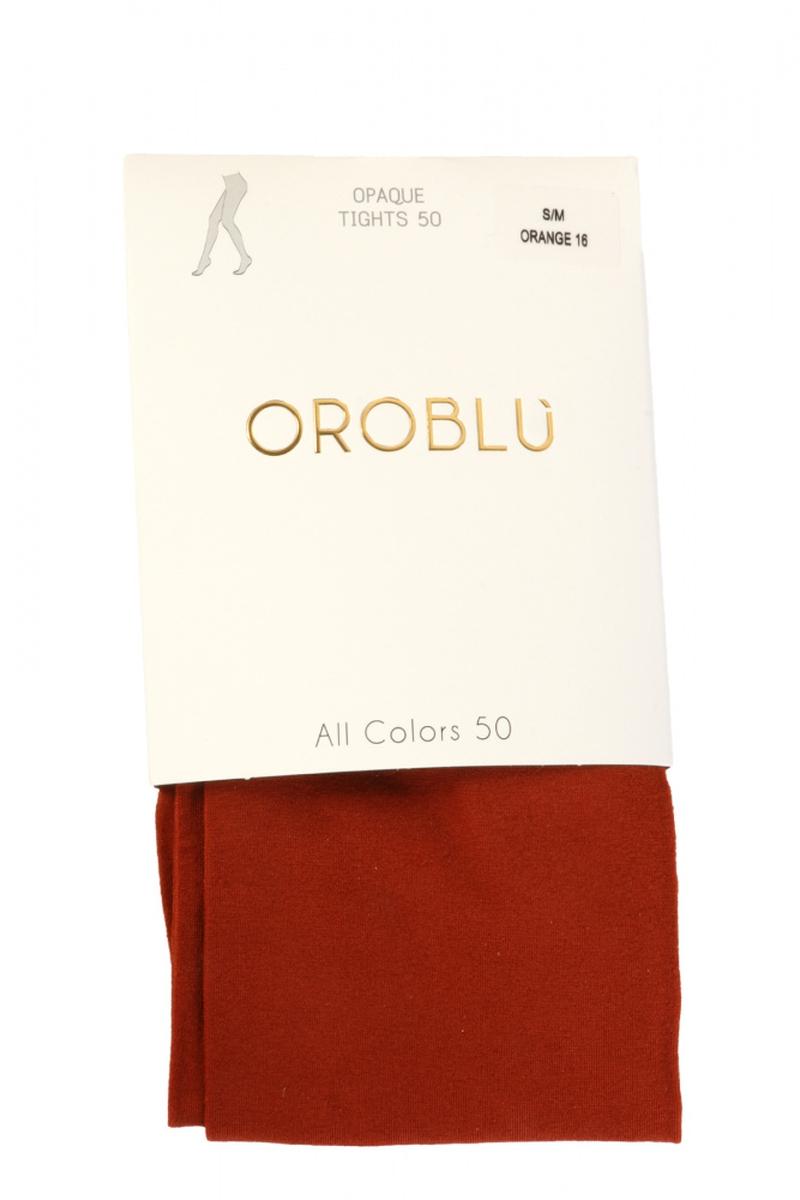 Rust orange 5 tights 50 den fra Oroblu