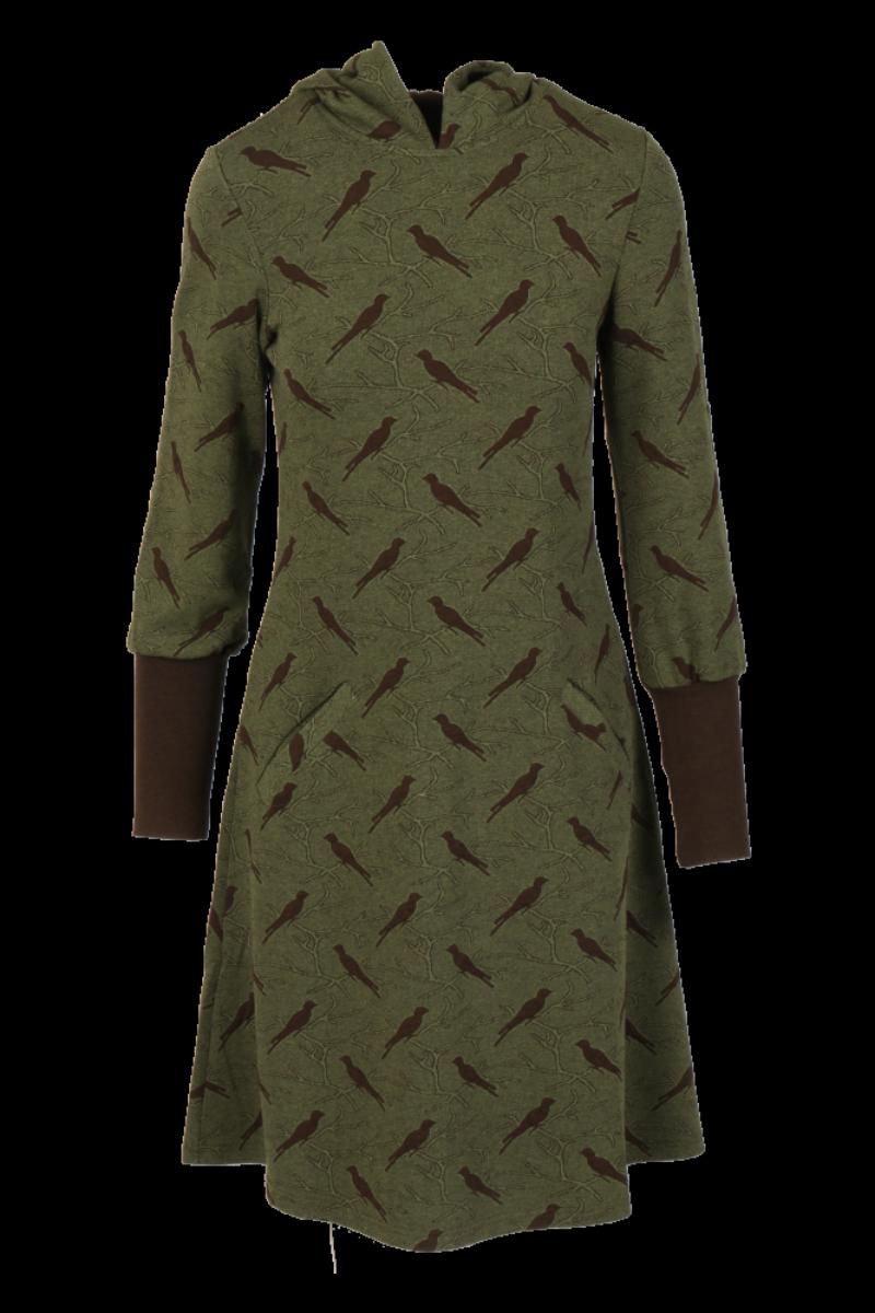 Brynhild Mosegrønn brun kjole