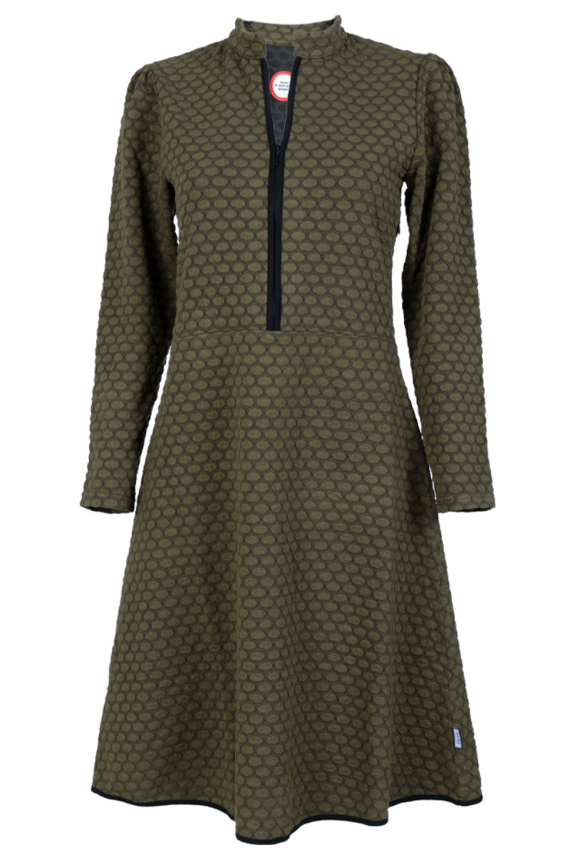 Kate oliven elegant kjole