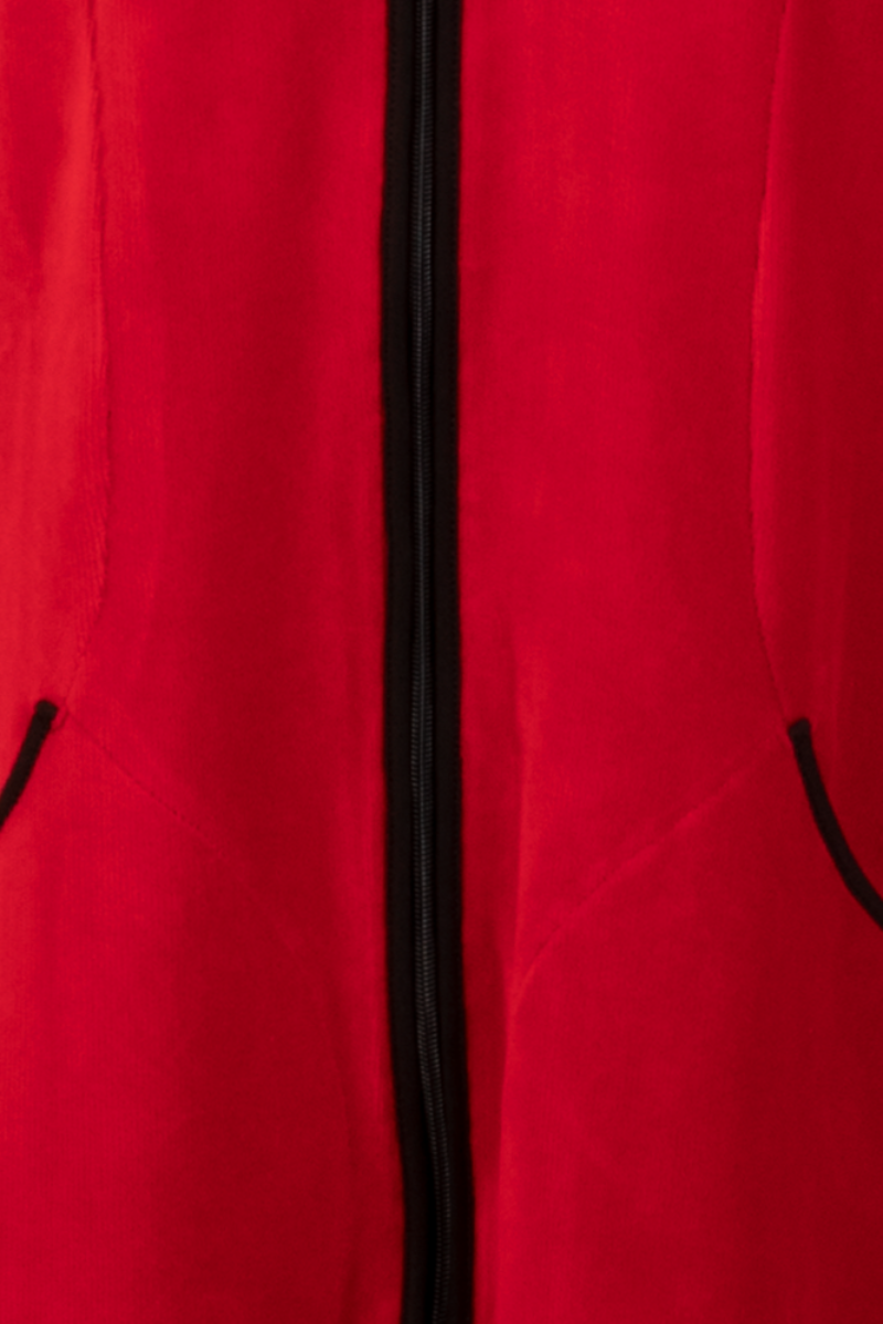 Belinda jakke i babycord rød