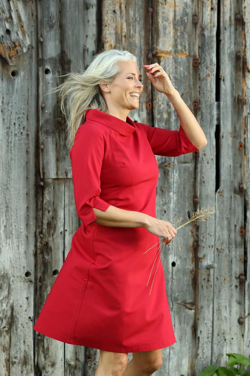 Pippa rød kjole