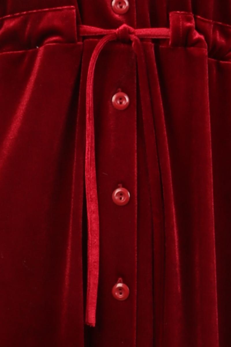 Beth rød velurkjole / jakke