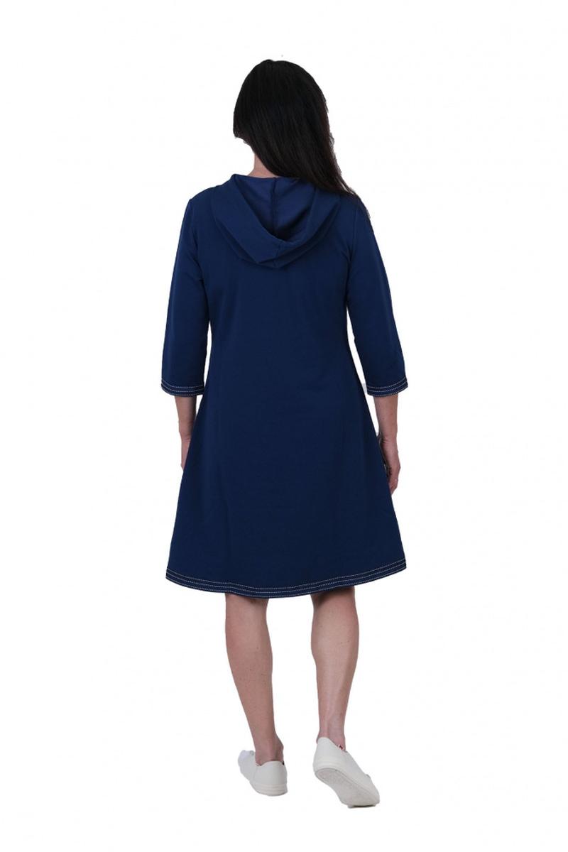 Dagny Sporty blå hvit kjole