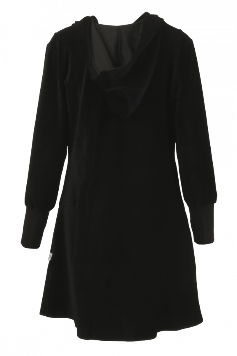 Belinda jakke i babycord sort