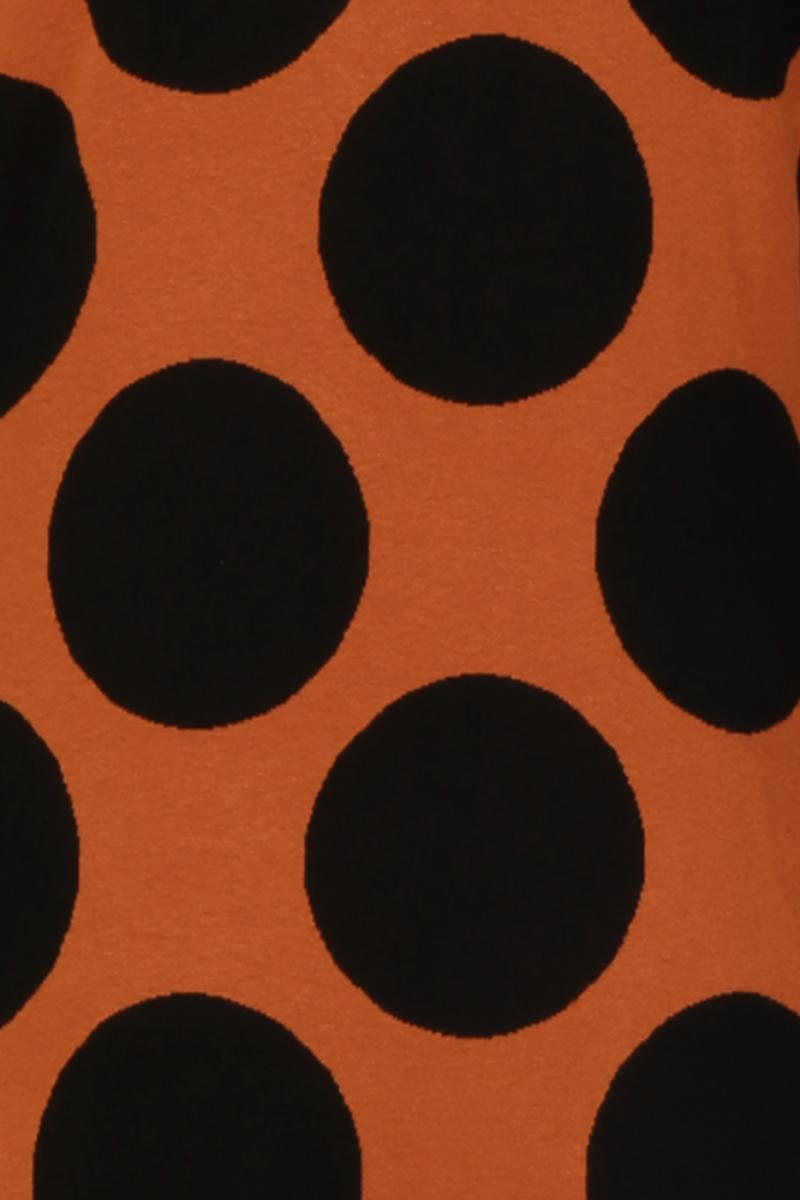 Genoveva oransje sort kjole