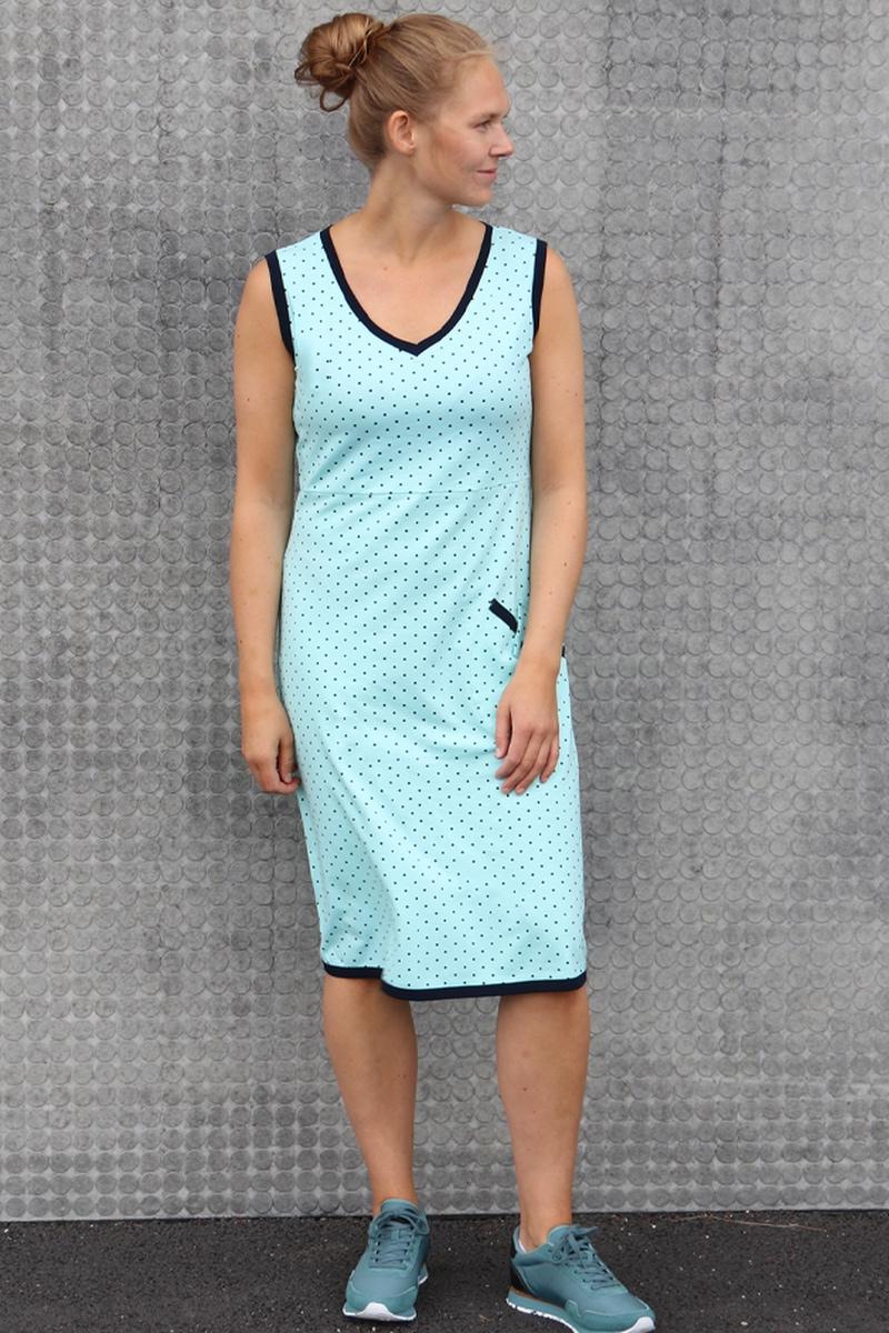 Laila Turkis og blå kjole