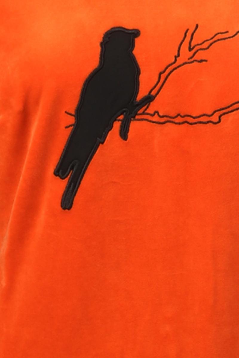 Sonja oransje velur kjole