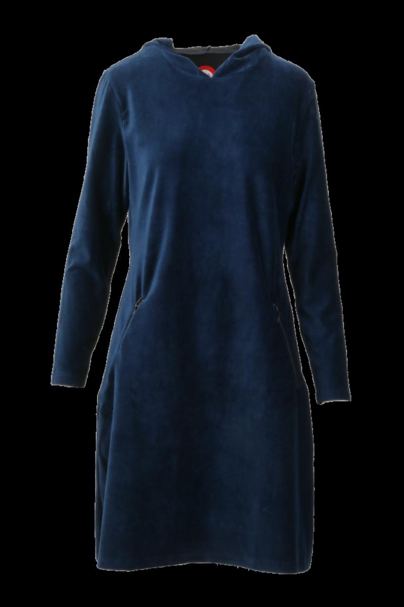 Gro blå sporty hettekjole