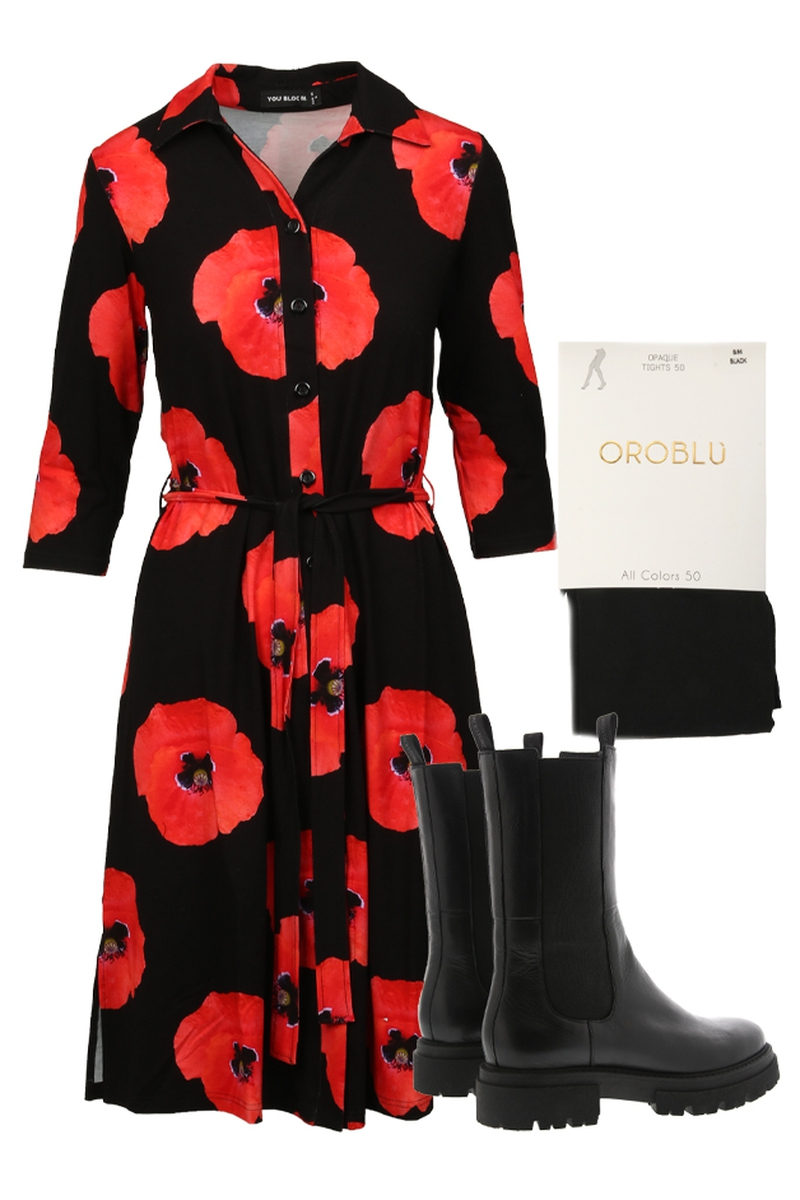 Outfit Papaver red