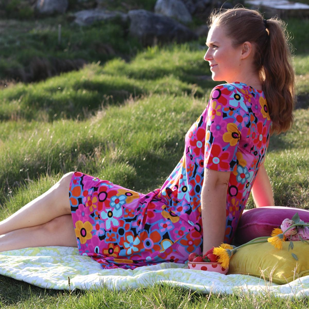 Sina multicolor kjole