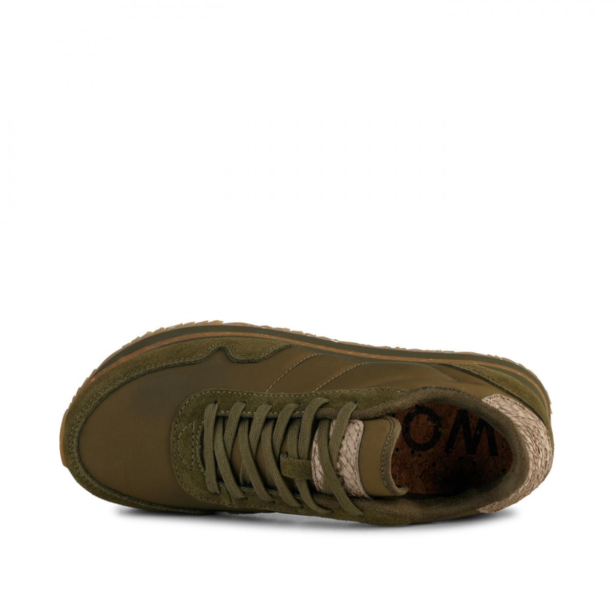 Dark olive plateau sneakers Nora III WL1751