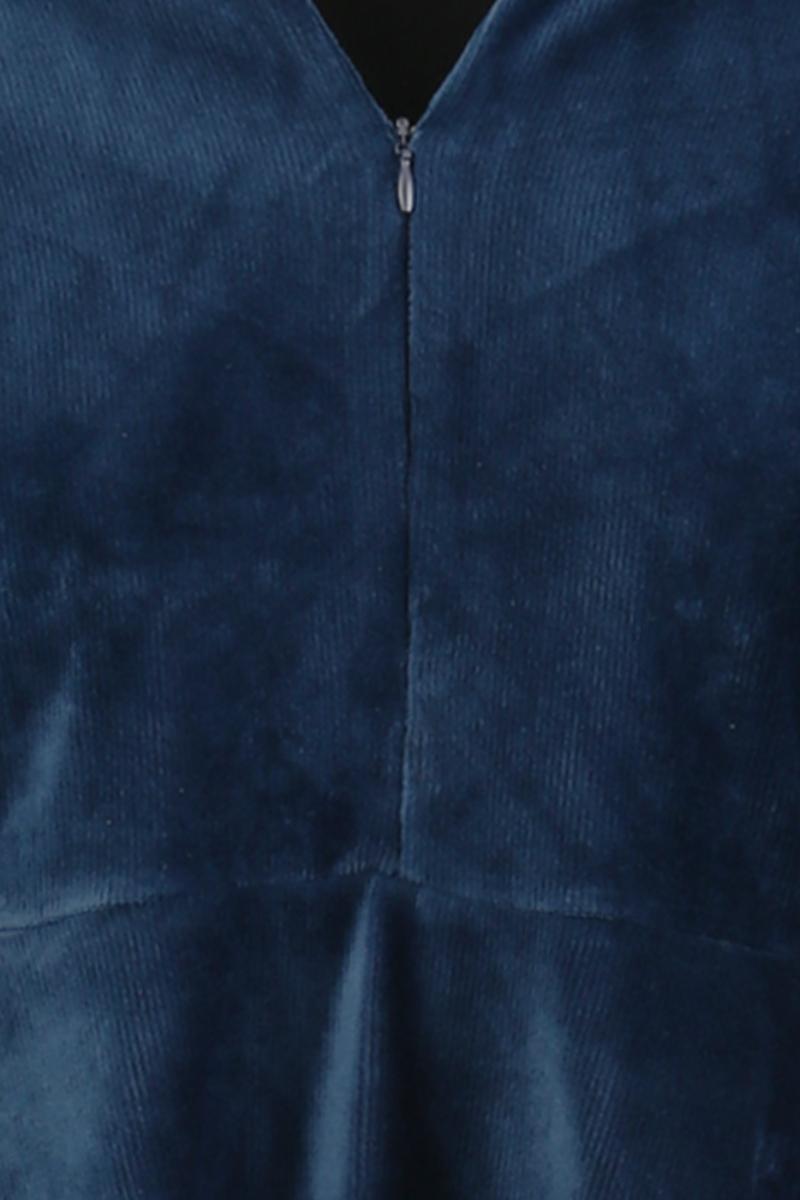 Louise kjole babycord blå
