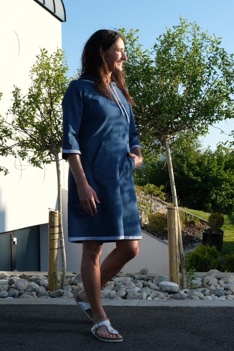 Ingebjørg blå sporty Jeanskjole