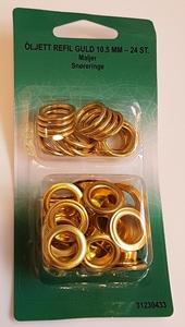 Bilde av Gullfargede maljer 10,5 mm -