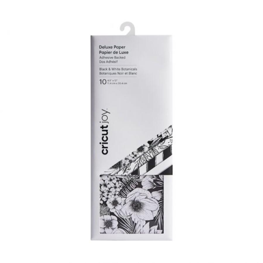 Cricut Deluxe stickerpaper B/W Botanicals