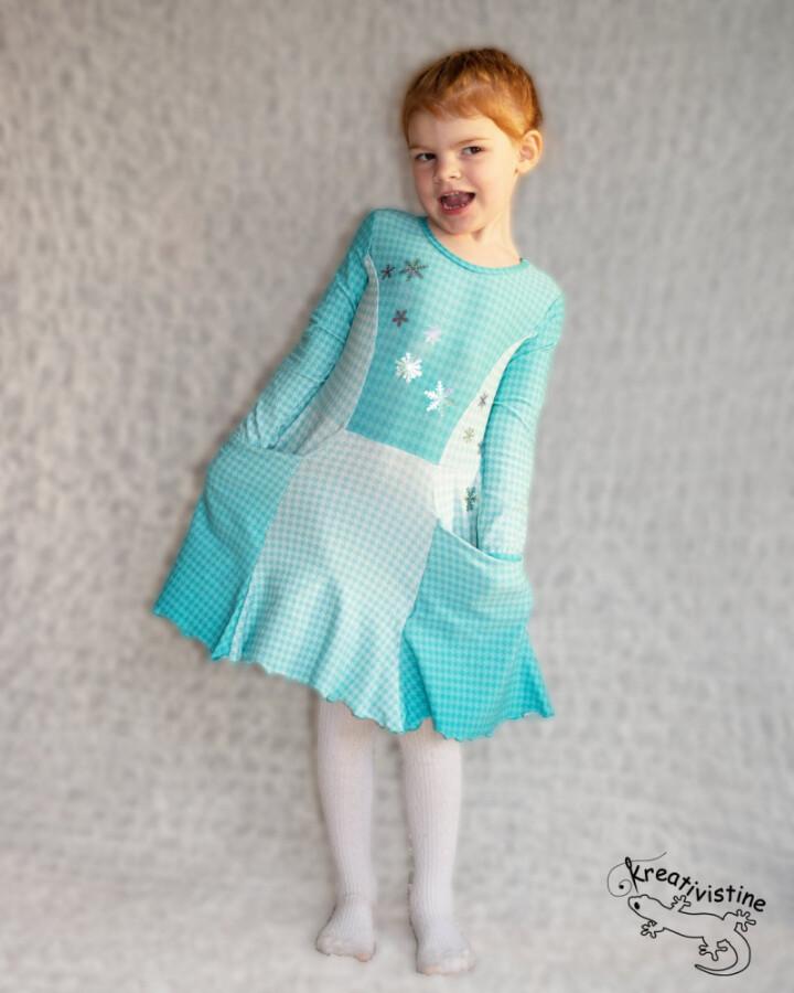 Kreativistine  - Sesse dress kids - papirmønster