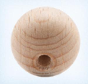 Bilde av Rund 10 mm treperle trefarget
