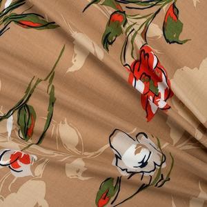 Bilde av Viskose blomstret beige