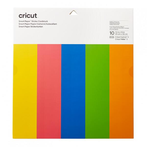 Cricut 10 ark Smart sticker card stock Bright