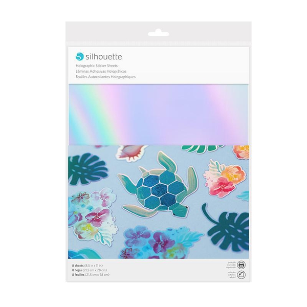 Silhouette Holographic sticker paper