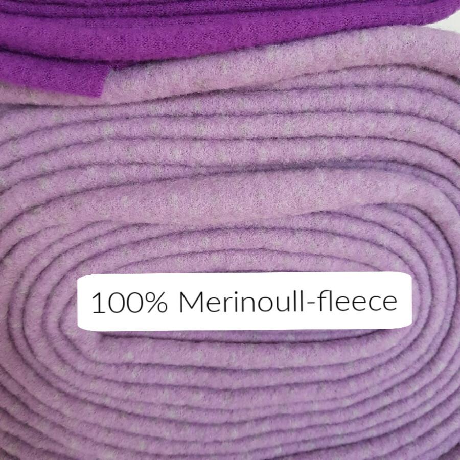Merinoull-fleece - Lys lillamelert