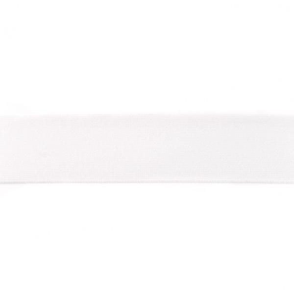 Elastikk myk 4 cm hvit pr meter